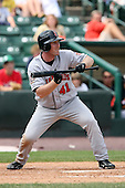 August 11th 2008:  Designated Hitter Ryan Mulhern (41) of the Indianapolis Indians, Class-AAA affiliate of the Pittsburgh Pirates, during a game at Frontier Field in Rochester, NY.  Photo by:  Mike Janes/Four Seam Images