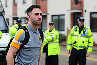 NEWPORT, WALES - FEBRUARY 16: Robbie Willmott of Newport County arrive for the FA Cup Fifth Round match between Newport County and Manchester City at the Rodney Parade on February 16, 2019 in Newport, Wales. (Photo by Athena Pictures/Getty Images)