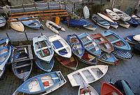 - Liguria, Cinque Terre, barche nel paese di Riomaggiore<br /> <br /> - Liguria, Cinque Terre, boats in the village of Riomaggiore