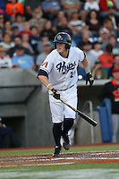 Nate Robertson (26) of the Hillsboro Hops bats during a game against the Salem-Keizer Volcanoes at Ron Tonkin Field on July 27, 2015 in Hillsboro, Oregon. Hillsboro defeated Salem-Keizer, 9-2. (Larry Goren/Four Seam Images)