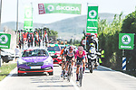The breakaway led by Magnus Cort Nielsen (DEN) EF Education-Nippo during Stage 6 of La Vuelta d'Espana 2021, running 158.3km from Requena to Alto de la Montaña Cullera, Spain. 19th August 2021.    <br /> Picture: Cxcling   Cyclefile<br /> <br /> All photos usage must carry mandatory copyright credit (© Cyclefile   Cxcling)