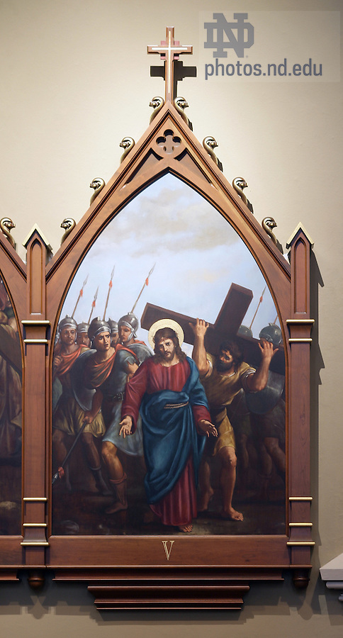 Stations of the Cross in the Basilica of the Sacred Heart.  Station 5...Photo by Matt Cashore..