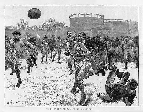England defeat Scotland 1 - 0 at the Oval London     Date: 5 February 1872     Source: William Small in the Graphic 24 February 1872 page 184
