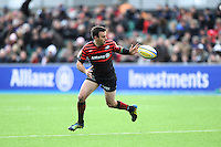 20130303 Copyright onEdition 2013©.Free for editorial use image, please credit: onEdition..Neil de Kock of Saracens in action during the Premiership Rugby match between Saracens and London Welsh at Allianz Park on Sunday 3rd March 2013 (Photo by Rob Munro)..For press contacts contact: Sam Feasey at brandRapport on M: +44 (0)7717 757114 E: SFeasey@brand-rapport.com..If you require a higher resolution image or you have any other onEdition photographic enquiries, please contact onEdition on 0845 900 2 900 or email info@onEdition.com.This image is copyright onEdition 2013©..This image has been supplied by onEdition and must be credited onEdition. The author is asserting his full Moral rights in relation to the publication of this image. Rights for onward transmission of any image or file is not granted or implied. Changing or deleting Copyright information is illegal as specified in the Copyright, Design and Patents Act 1988. If you are in any way unsure of your right to publish this image please contact onEdition on 0845 900 2 900 or email info@onEdition.com