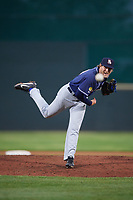 New Hampshire Fisher Cats relief pitcher Justin Shafer (34) delivers a pitch during a game against the Altoona Curve on May 11, 2017 at Peoples Natural Gas Field in Altoona, Pennsylvania.  Altoona defeated New Hampshire 4-3.  (Mike Janes/Four Seam Images)