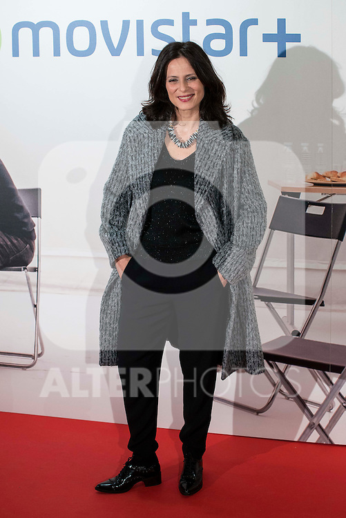 """Aitana Sanchez Gijon attends to the premire of the film """"Que fue de Jorge Sanz"""" at Cinesa Proyecciones in Madrid. February 10, 2016."""