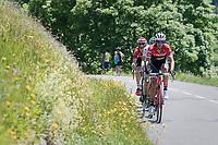 Alberto Contador (ESP/Trek-Segafredo) up the Col de la Colombière<br /> <br /> 69th Critérium du Dauphiné 2017<br /> Stage 8: Albertville > Plateau de Solaison (115km)