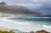 South Africa, Camps Bay in Winter.  Strong Winds, Few People.