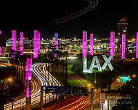 """""""LAX Airport in One Shot"""" by Art Harman. Everything is here--the airplane overhead, the terminals, the signs, the control tower, and of course, the traffic. From a secret venue."""