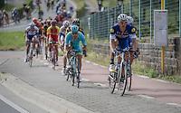 Marcel Kittel (DEU/Etixx-Quickstep) brings Tom Boonen (BEL/Etixx-Quickstep) to the front via the bike path<br /> <br /> Brussels Cycling Classic 2016