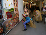 Performance artist during the ChaShaMa 'Open Studios' Opening Night Reception on October 12, 2018 at the Brooklyn Army Terminal in Brooklyn, New York.
