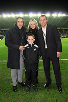 ATTENTION SPORTS PICTURE DESK<br /> Pictured: Paulo Sousa manager for Swansea City with mascot<br /> Re: Coca Cola Championship, Swansea City Football Club v Plymouth Argyle at the Liberty Stadium, Swansea, south Wales. Tuesday 08 December 2009