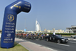 Km0 the start of Stage 4 The Municipality Stage of the Dubai Tour 2018 the Dubai Tour's 5th edition, running 172km from Skydive Dubai to Hatta Dam, Dubai, United Arab Emirates. 9th February 2018.<br /> Picture: LaPresse/Fabio Ferrari | Cyclefile<br /> <br /> <br /> All photos usage must carry mandatory copyright credit (© Cyclefile | LaPresse/Fabio Ferrari)