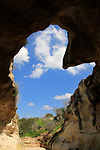 Israel, Shephelah, a Bell Cave in Beth Guvrin national park