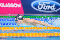 Adam Barrett of ENG competes in 4x100 meter medley relay final during Commonwealth Games, Tuesday, July 29, 2014 in Glasgow, United Kingdom. (Mo Khursheed/TFV Media via AP Images)