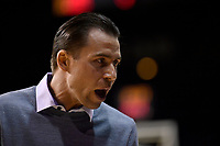 Coach Zico Coronel of the Saints talks to his players during the round one NBL match between the Wellington Saints and the Canterbury Rams at TSB Bank Arena, Wellington, New Zealand on Friday 30 April 2021.<br /> Photo by Masanori Udagawa. <br /> www.photowellington.photoshelter.com