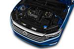 Car stock 2019 Volkswagen Jetta S 4 Door Sedan engine high angle detail view