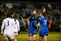Seattle, WA - Thursday, March, 08, 2018: Morgan Andrews during a preseason match between the Seattle Reign FC and University of Washington at Husky Soccer Stadium.