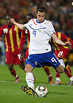 Actionshot of Robin van Persie of the Netherlands during  his soccer friendly against Ghana ahead of the World Cup 2010, in Rotterdam . Picture taken June 1, 2010. REUTERS/Michael Kooren (NETHERLANDS) ...