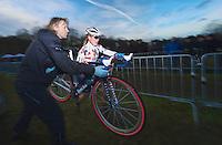 Mr & Mrs Compton in the pits / bikechange<br /> <br /> GP Sven Nys 2014