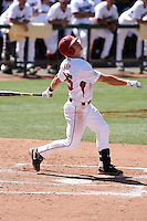 Collin Kuhn #25 of the Arkansas Razorbacks plays against the Charlotte 49ers in the Tempe Regional of the NCAA baseball post-season at Packard Stadium on June 3, 2011 in Tempe, Arizona. .Photo by:  Bill Mitchell/Four Seam Images.