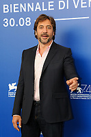 Spanish actors Javier Bardem attends a photo call for the movie ''Loving Pablo' at the 74th Venice Film Festival on September 6, 2017 in Venice, Italy.<br /> UPDATE IMAGES PRESS/Marilla Sicilia<br /> <br /> *** ONLY FRANCE AND GERMANY SALES ***