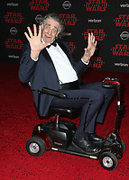LOS ANGELES, CA - DECEMBER 9: Peter Mayhew, at Premiere Of Disney Pictures And Lucasfilm's 'Star Wars: The Last Jedi' at Shrine Auditorium in Los Angeles, California on December 9, 2017. Credit: Faye Sadou/MediaPunch /NortePhoto.com NORTEPHOTOMEXICO
