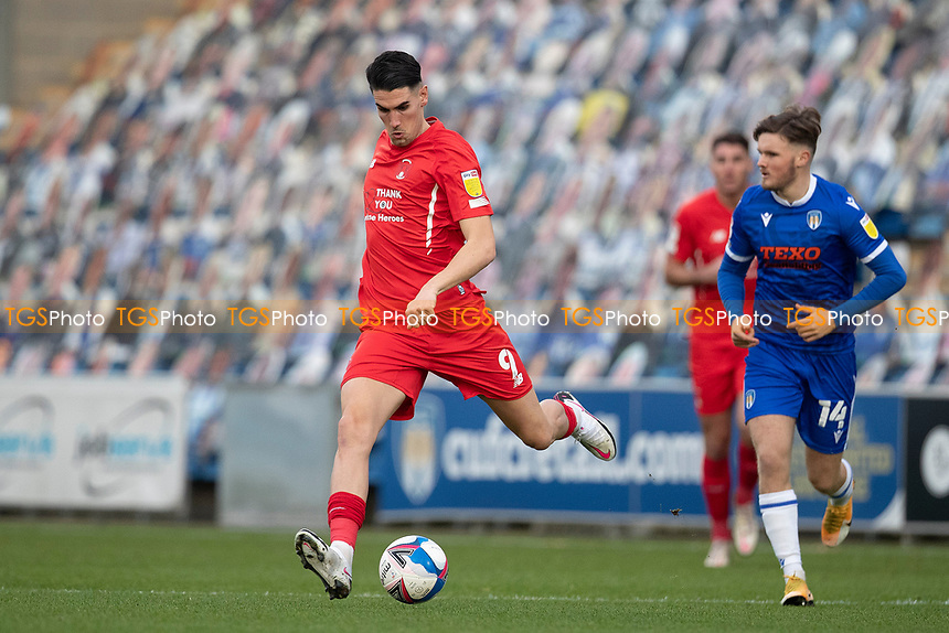 Connor Wilkinson, Leyton Orient looks to spread play during Colchester United vs Leyton Orient, Sky Bet EFL League 2 Football at the JobServe Community Stadium on 14th November 2020