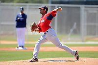 Boston Red Sox pitcher Miguel Pena #81 during a minor league Spring Training game against the Minnesota Twins at JetBlue Park Training Complex on March 27, 2013 in Fort Myers, Florida.  (Mike Janes/Four Seam Images)
