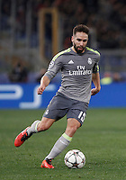 Calcio, andata degli ottavi di finale di Champions League: Roma vs Real Madrid. Roma, stadio Olimpico, 17 febbraio 2016.<br /> Real Madrid's Dani Carvajal in action during the first leg round of 16 Champions League football match between Roma and Real Madrid, at Rome's Olympic stadium, 17 February 2016.<br /> UPDATE IMAGES PRESS/Isabella Bonotto