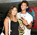 MIAMI, FL - JULY 09: Jovan Clark (R) and guest Miami Swim week JNA after party single release event at Racket Wynwood on July 9, 2021 in Miami, Florida.  ( Photo by Johnny Louis / jlnphotography.com )