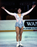 Charlene Wong of Canada competes at the 1985 Canadian Championships in Moncton,Canada. Photo copyright Scott Grant.