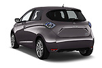 Car pictures of rear three quarter view of a 2017 Renault ZOE Bose Edition 5 Door Hatchback angular rear