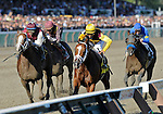 10 August 28: Discreetly Mine (no. 4), ridden by John Velazquez and trained by Todd Pletcher, wins the 26th running of the grade 1 King's Bishop Stakes for three year olds at Saratoga Race Track in Saratoga Springs, New York.
