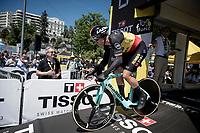 Wout van Aert (BEL/Jumbo - Visma) off the start ramp<br /> <br /> Stage 13 (ITT): Pau to Pau(27km)<br /> 106th Tour de France 2019 (2.UWT)<br /> <br /> ©kramon