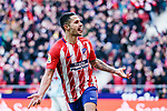 Victor Machin, Vitolo, of Atletico de Madrid celebrates after scoring his goal during the La Liga 2017-18 match between Atletico de Madrid and RC Celta de Vigo at Wanda Metropolitano on March 11 2018 in Madrid, Spain. Photo by Diego Souto / Power Sport Images