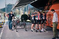 Team USA before the start<br /> <br /> MEN JUNIOR ROAD RACE<br /> Kufstein to Innsbruck: 132.4 km<br /> <br /> UCI 2018 Road World Championships<br /> Innsbruck - Tirol / Austria