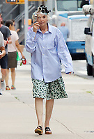 NEW YORK, NY - July 14: Julie Halston on the set of the HBOMax Sex And The City reboot series 'And Just Like That' in New York City on July 14, 2021. <br /> CAP/MPI/RW<br /> ©RW/MPI/Capital Pictures