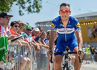 Philippe Gilbert (BEL/Quick Step floors) on his way to the pre race sign on. <br /> <br /> Stage 2: Mouilleron-Saint-Germain > La Roche-sur-Yon (183km)<br /> <br /> Le Grand Départ 2018<br /> 105th Tour de France 2018<br /> ©kramon