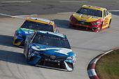 #19: Martin Truex Jr., Joe Gibbs Racing, Toyota Camry Auto-Owners Insurance #18: Kyle Busch, Joe Gibbs Racing, Toyota Camry M&M's