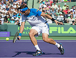 David Ferrer (ESP) defeats Tommy Haas (GER) 4-6, 6-2, 6-3 at the Sony Open being played at Tennis Center at Crandon Park in Miami, Key Biscayne, Florida on March 29, 2013