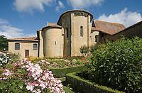 EEurope/France/Aquitaine/40/Landes/Pimbo:  le village et son église Saint-Barthélemy, ancienne collégiale