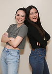 "Ismenia Mendes and Isabelle Fuhrman in rehearsal with Red Bull Theater's All-Female ""MACBETH"" at the Vineyard Theatre Rehearsal Studios on April 12, 2019 in New York City."