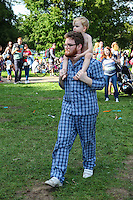 2016 09 18<br />Pictured: Picnic-goers at The Great Pyjama Picnic, Bute Park, Cardiff. Sunday 18 September 2016<br />Re: Roald DahlÕs City of the Unexpected has transformed Cardiff City Centre into a landmark celebration of WalesÕ foremost storyteller, Roald Dahl, in the year which celebrates his centenary.
