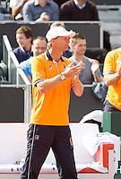 15-09-12, Netherlands, Amsterdam, Tennis, Daviscup Netherlands-Suisse, Doubles, captain Jan Siemerink