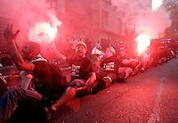 20120910 ROMA-CRONACA: ALCOA, PROTESTA DEGLI OPERAI CONTRO LA CHIUSURA DI PORTOVESME