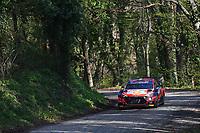 23rd April 2021; Zagreb, Croatia; WRC Rally of Croatia, stages 1-8;  Craig Breen - Hyundai I20 WRC