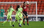 Katie Zelem of Manchester United Women receives a header