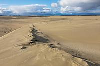 Great Kobuk Sand Dunes, Baird Mountains in the distance, Kobuk Valley National Park, Alaska.