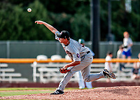 3 September 2018: Tri-City ValleyCats pitcher Matt Ruppenthal on the mound against the Vermont Lake Monsters at Centennial Field in Burlington, Vermont. The Lake Monsters defeated the ValleyCats 9-6 in the last game of the 2018 NY Penn League regular season. Mandatory Credit: Ed Wolfstein Photo *** RAW (NEF) Image File Available ***